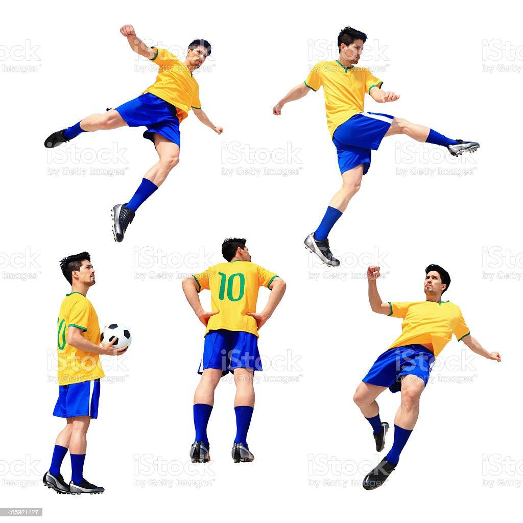 Jogador de futebol de futebol homem - foto de acervo