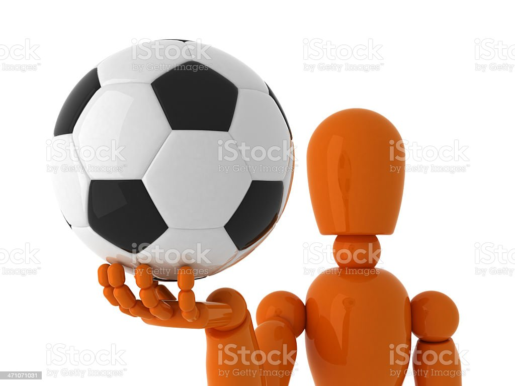 Soccer for you. royalty-free stock photo