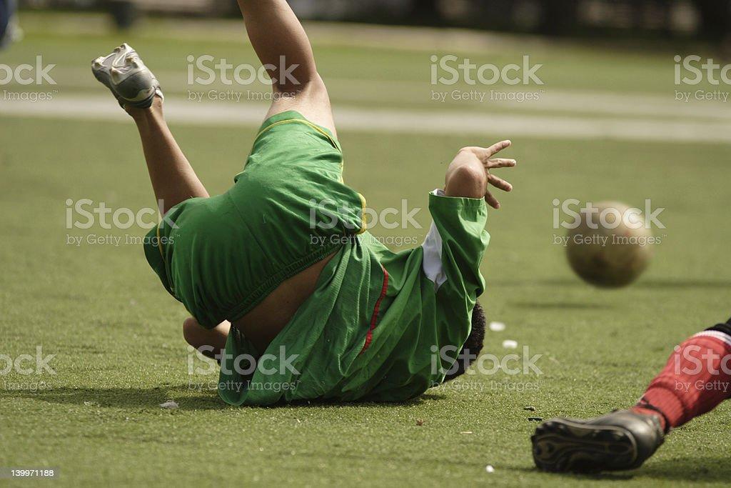 Soccer foul stock photo