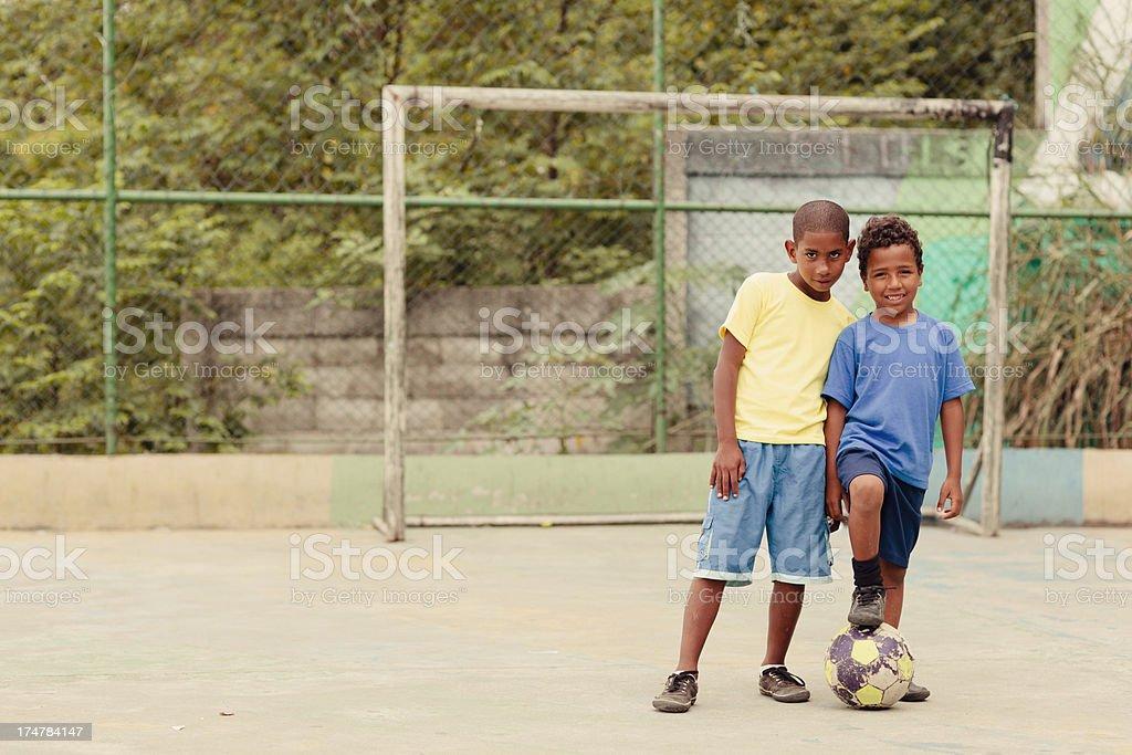 Soccer Friends stock photo