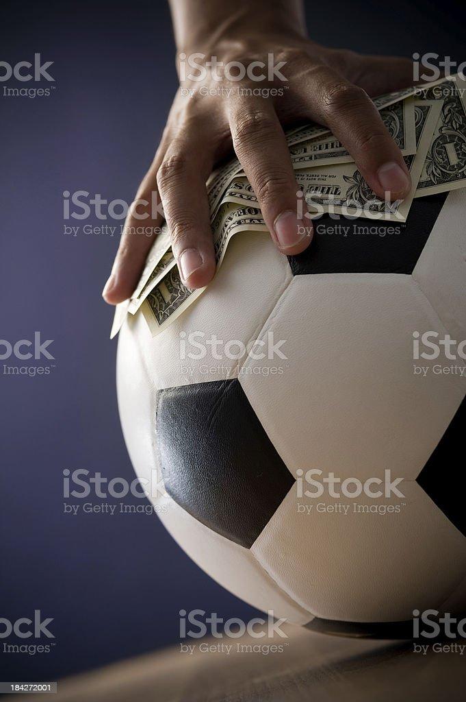 Soccer Gambling Concepts royalty-free stock photo