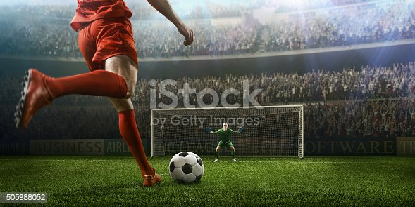 istock Soccer game moment with goalkeeper 505988052