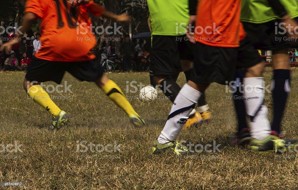 Soccer game stock photo
