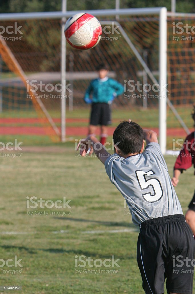 Soccer Game Throw In stock photo