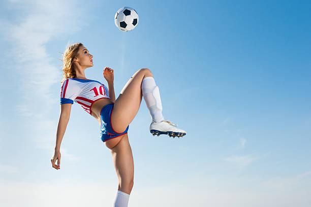 Soccer Girl stock photo