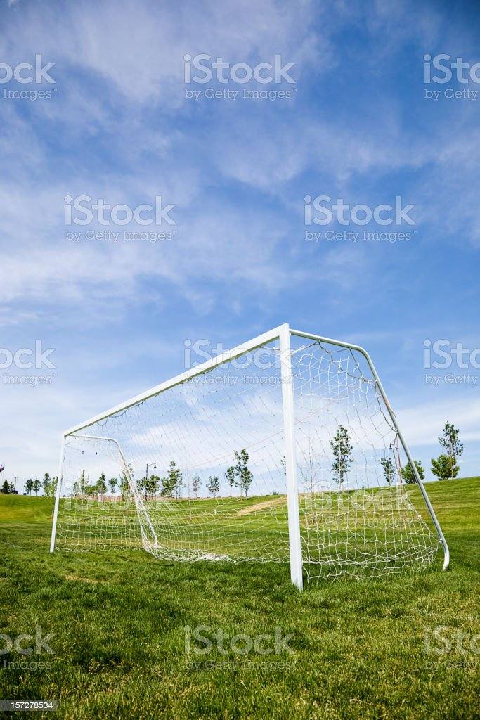 Soccer Goal and Blue Sky royalty-free stock photo