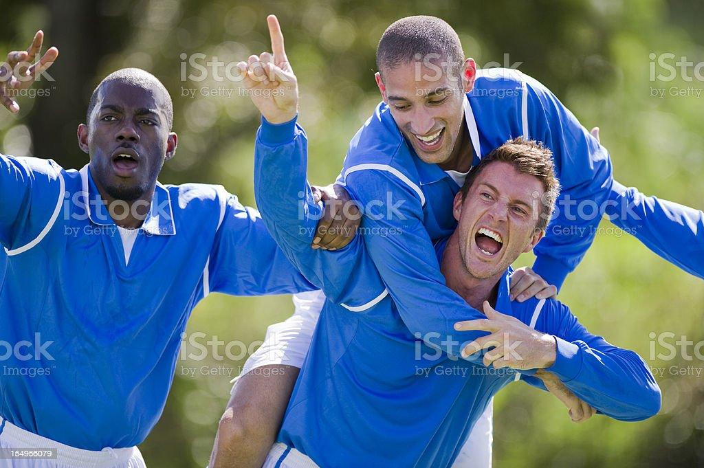 Soccer Goal Celebration royalty-free stock photo