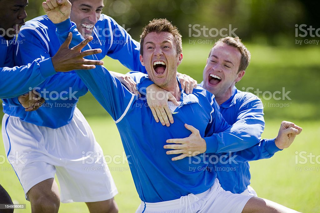 Soccer Goal Celebration royalty-free stock photo