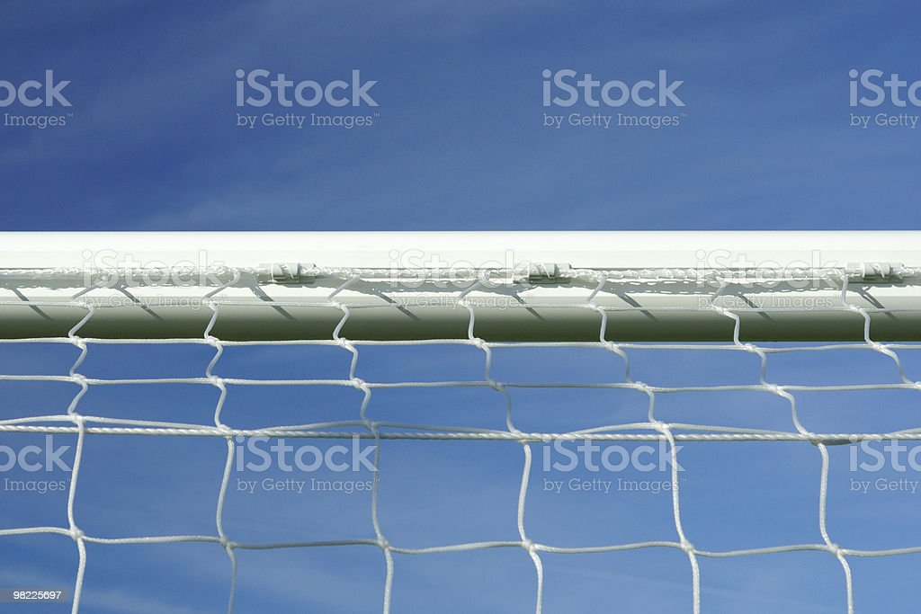 Soccer goal crossbar royalty-free stock photo