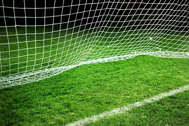 Soccer goal line.XXXL stock photo