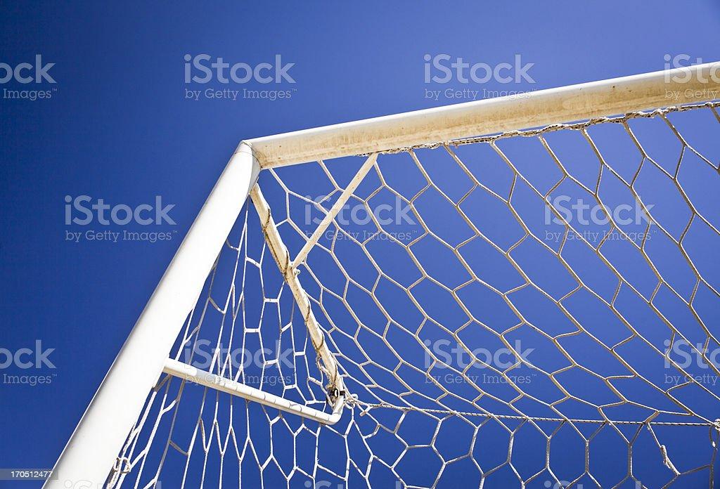 Soccer Goal Net Against Blue Sky royalty-free stock photo
