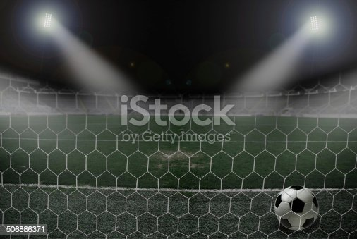 637298374 istock photo Soccer Goal 506886371