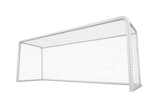 voetbal goal post geïsoleerd - soccer goal stockfoto's en -beelden