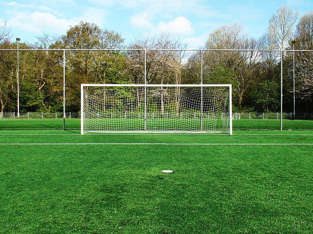 Soccer Goal Post Soccer Goal Post soccer field stock pictures, royalty-free photos & images