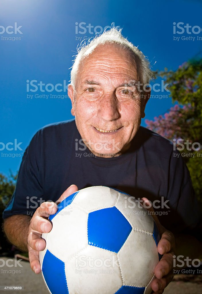 Soccer Grandfather Generation royalty-free stock photo