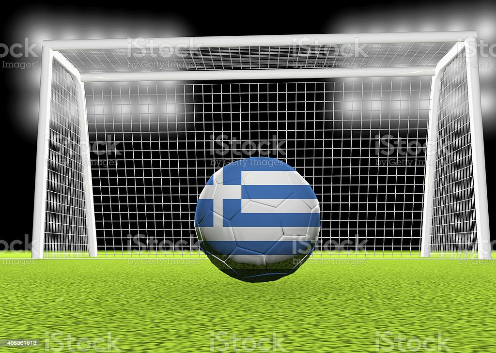 Soccer Greece royalty-free stock photo
