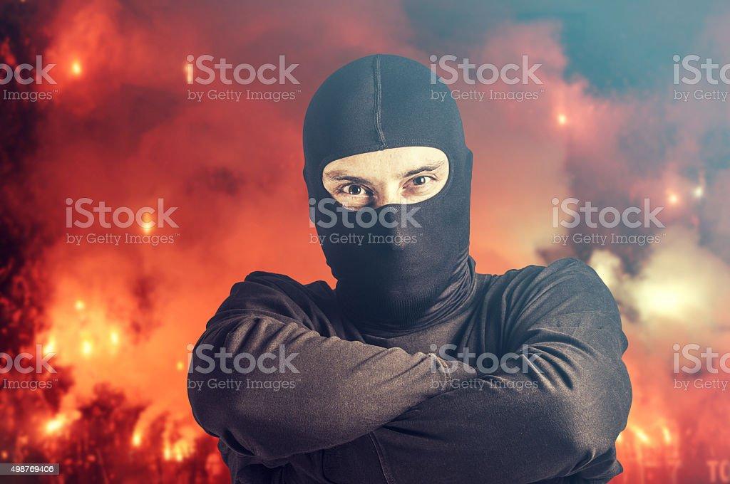 Soccer hooligan stock photo