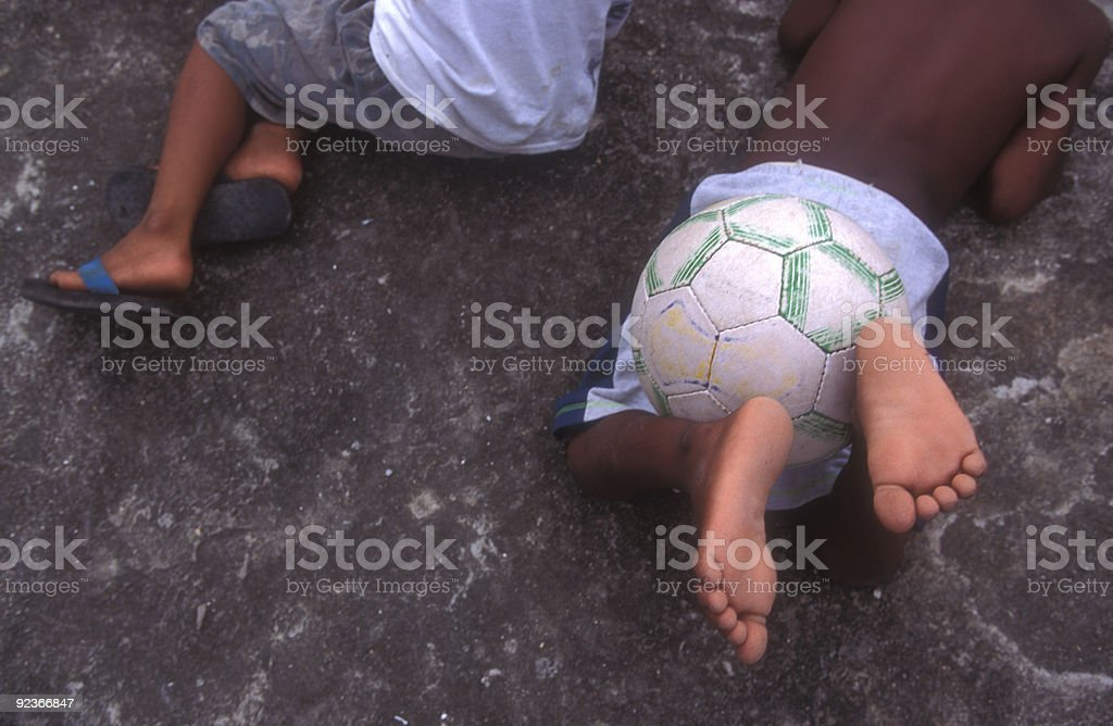 Soccer in Brazil stock photo