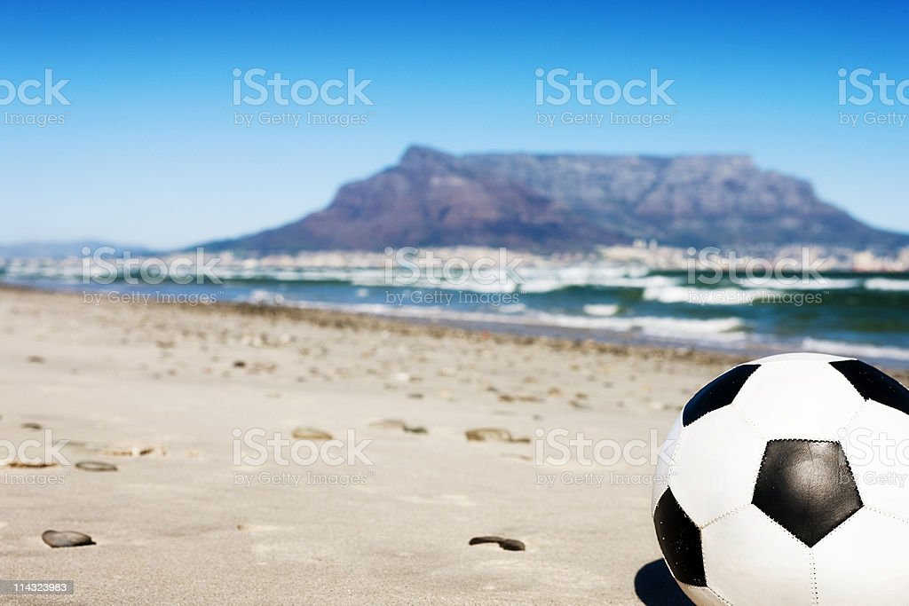 Soccer in South Africa royalty-free stock photo