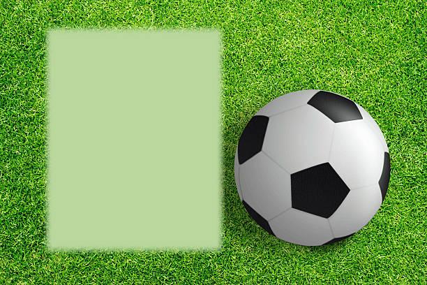 fußball info hintergrund - fußball poster stock-fotos und bilder