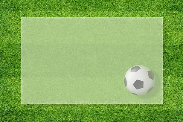 fußball info grünem hintergrund - fußball poster stock-fotos und bilder