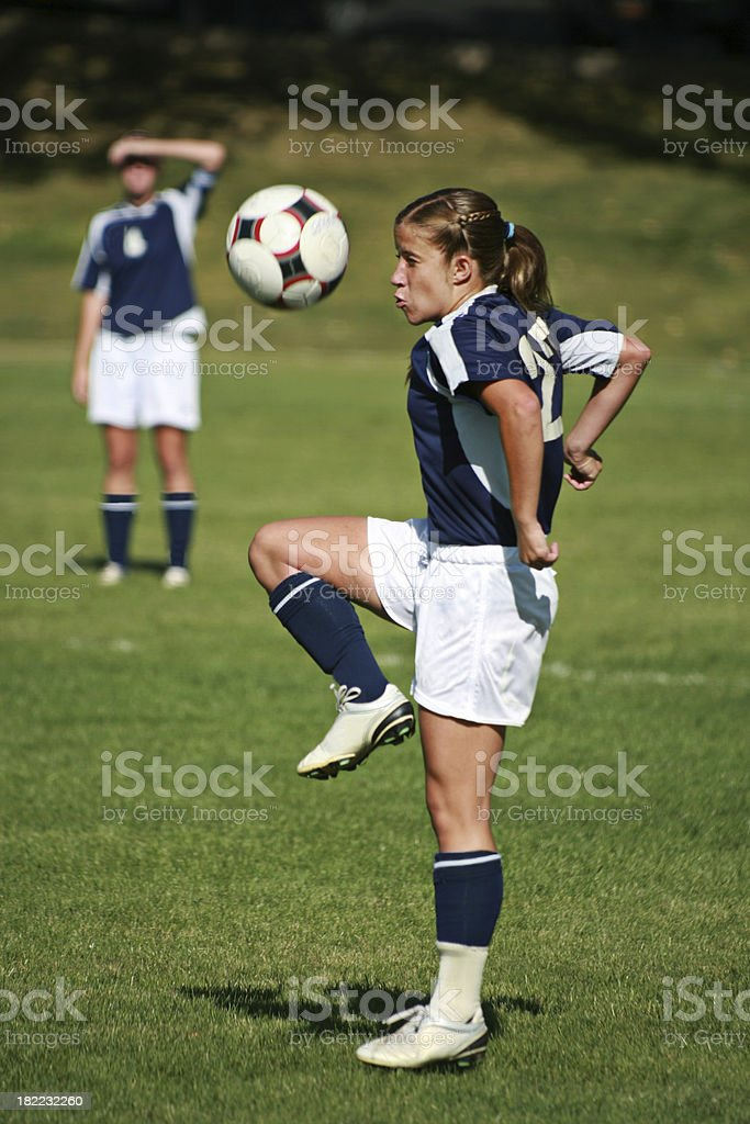 Soccer Juggle Control Touch royalty-free stock photo