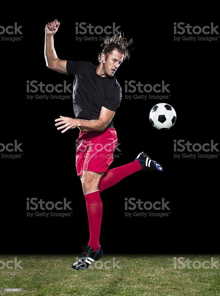 Soccer Kick royalty-free stock photo