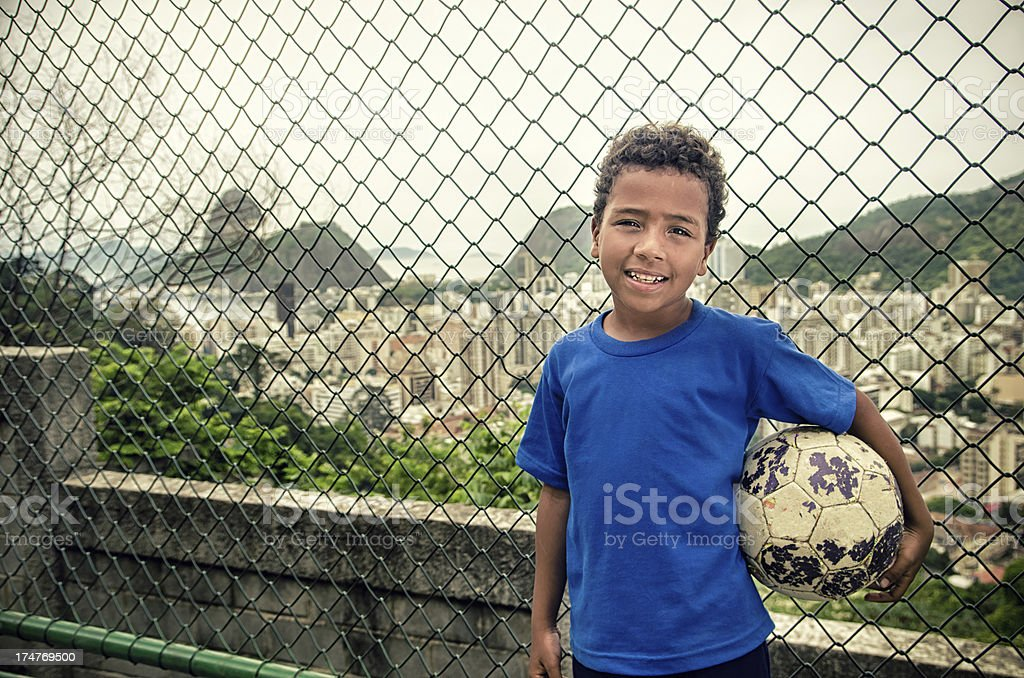 Soccer kid stock photo