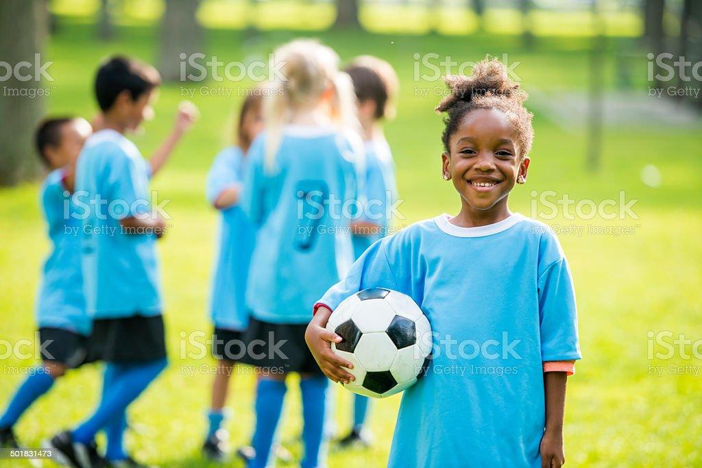 Soccer kids stock photo