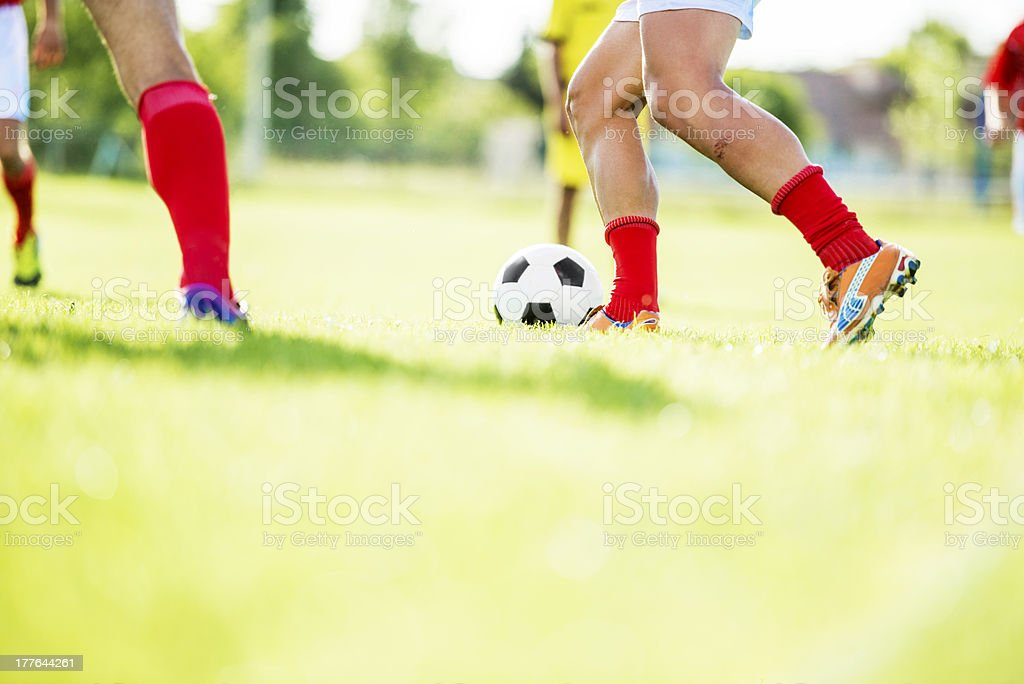 Soccer match. royalty-free stock photo