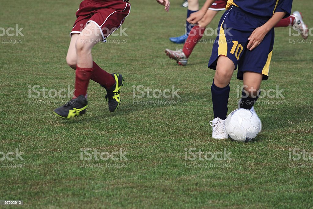 soccer match royalty-free stock photo