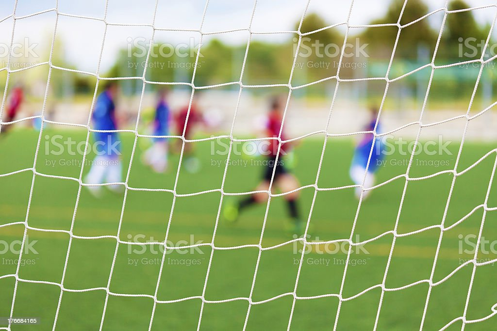 Soccer Match Selective Focus royalty-free stock photo