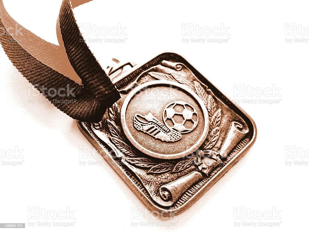 Soccer medal stock photo