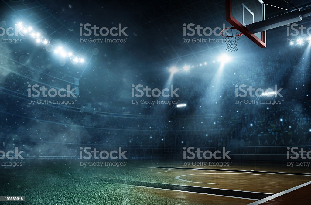 Soccer meets basketball stock photo