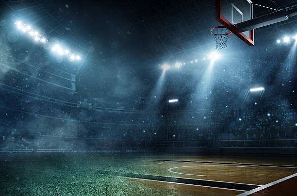 サッカーとバスケットボール ストックフォト