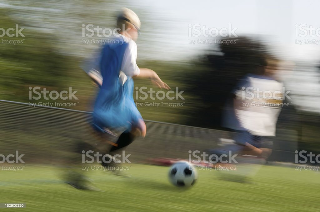 soccer motion royalty-free stock photo