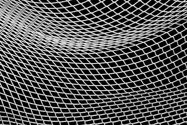 soccer net in black and white - gaas stockfoto's en -beelden