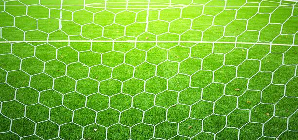 soccer net - soccer goal stockfoto's en -beelden
