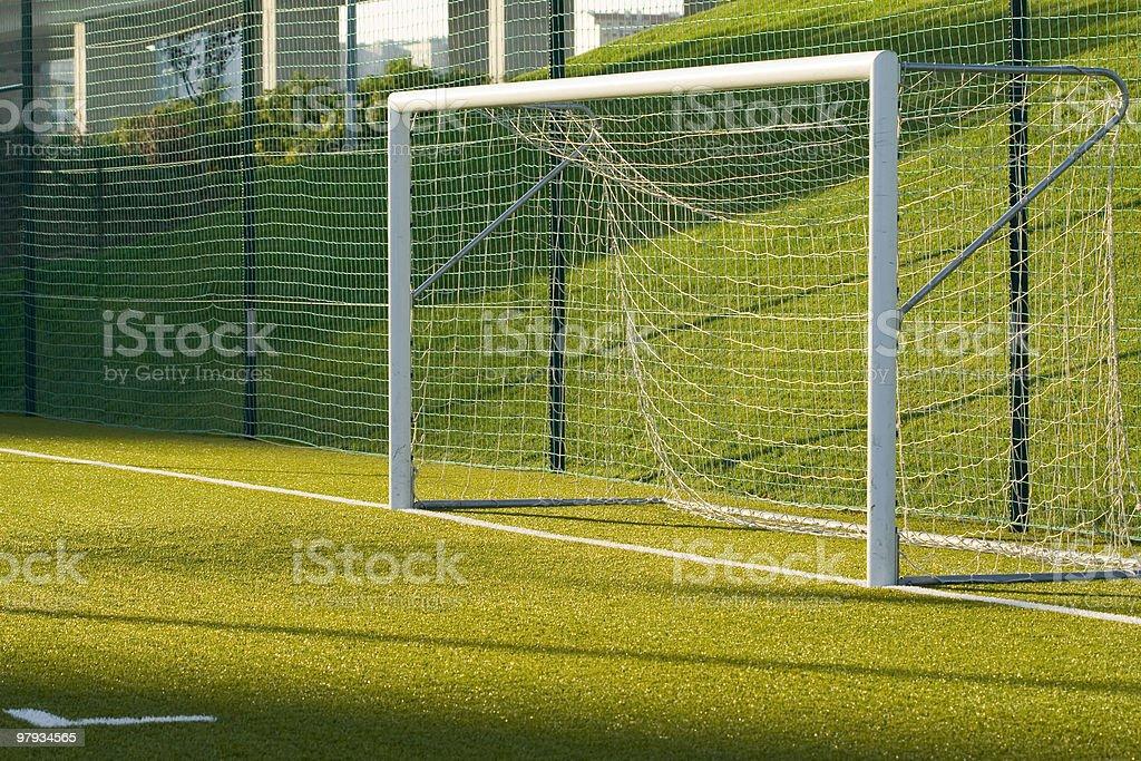 Soccer net royalty-free stock photo