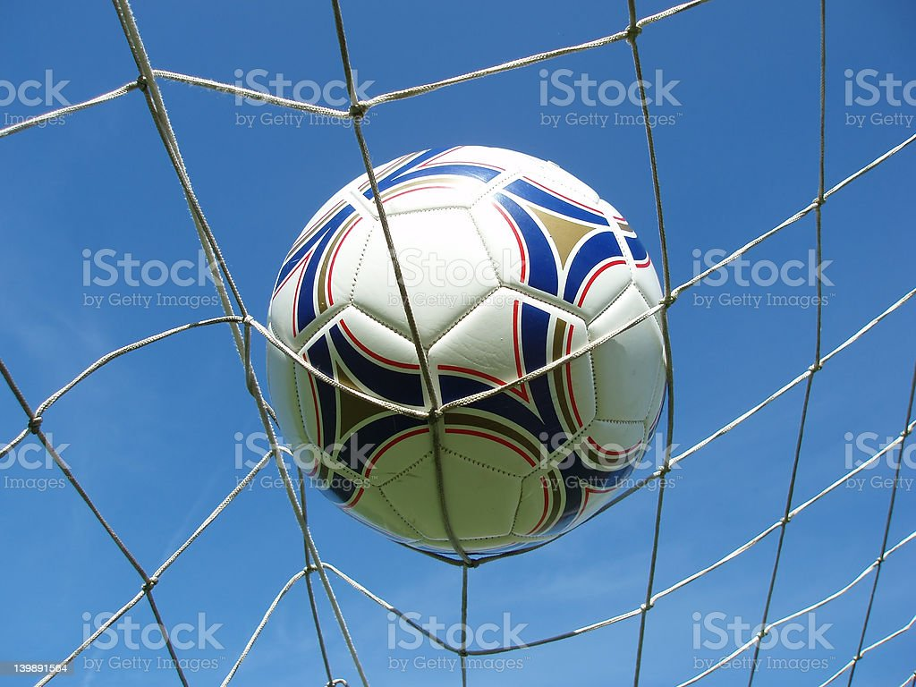 soccer net with ball royalty-free stock photo