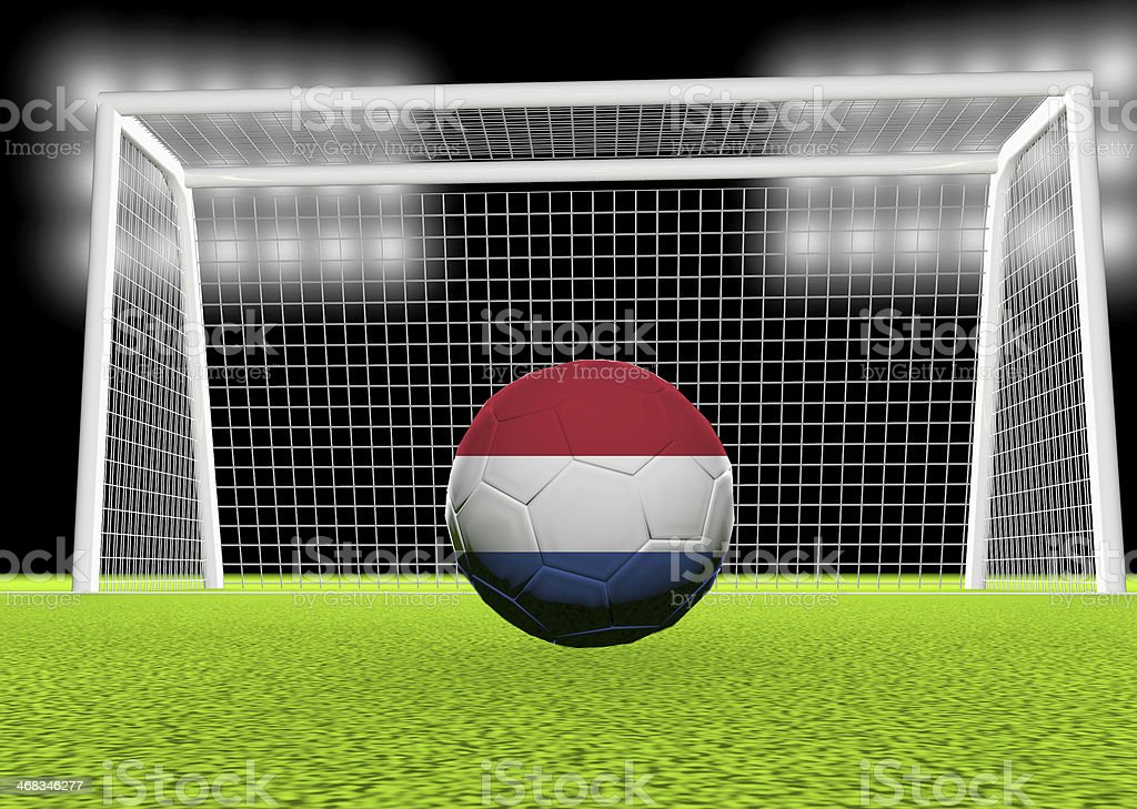 Soccer Netherlands royalty-free stock photo