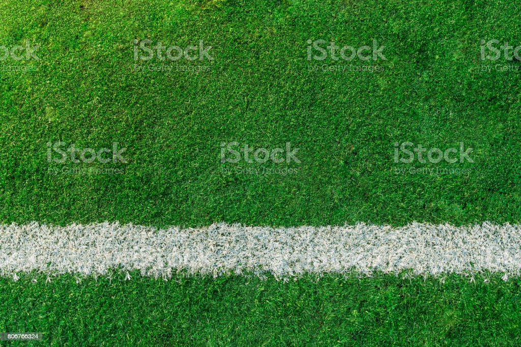 Soccer or Football feild with white line stock photo