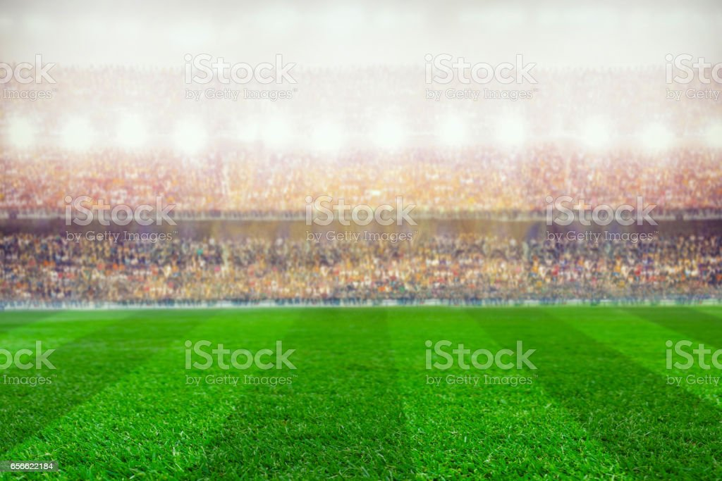 soccer or rugby stadium background stock photo