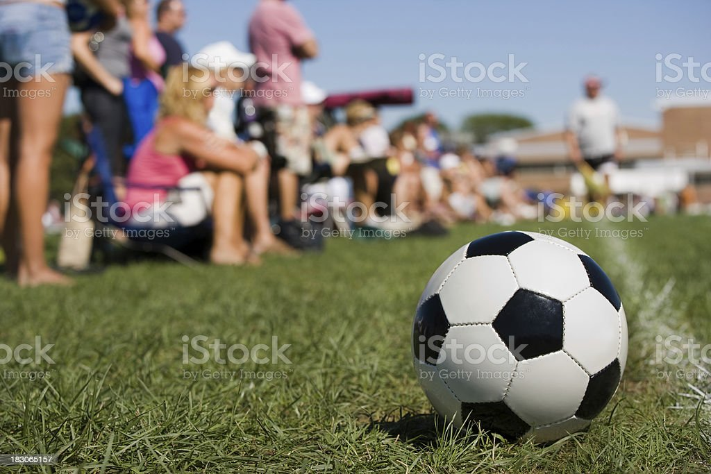 soccer parents sideline stock photo