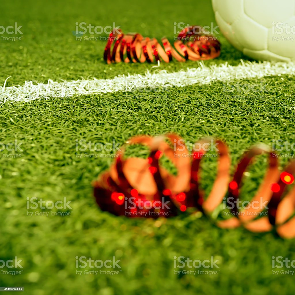 Soccer party stock photo
