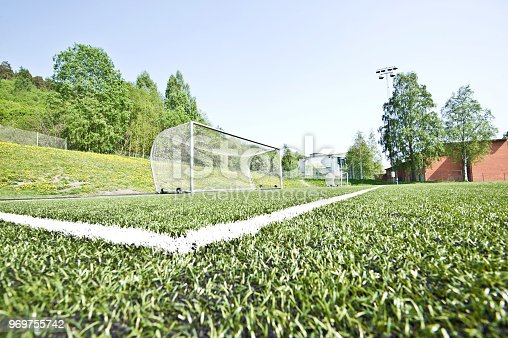 637297180 istock photo Soccer Pitch Penalty Area - 18-Yard Line & 18-Yard Area 969755742