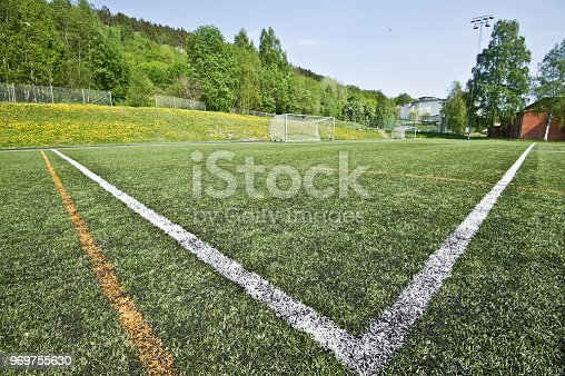 637297180 istock photo Soccer Pitch - Penalty Area 969755630