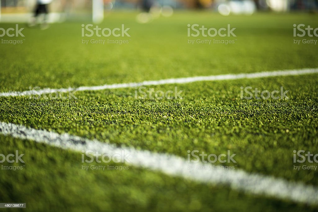Soccer pitch stock photo