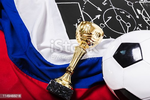 1143277606istockphoto Soccer plan chalk board with formation tactic 1149465016