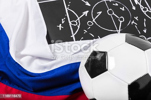 1143277606istockphoto Soccer plan chalk board with formation tactic 1169116470